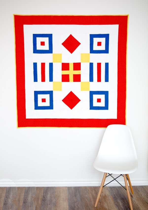 Nautical Summer Quilt Along Day 5:  Traditional Quilt Top…Putting it All Together
