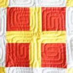 "Nautical Summer Quilt Along Day 3: ""R"" Flag (The Cross Block)"