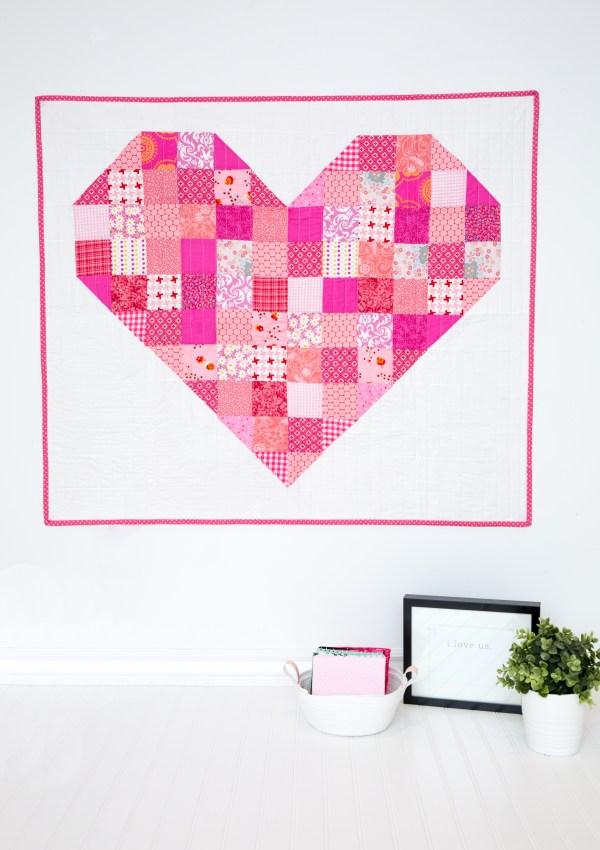 Heart Throw Quilt Pattern