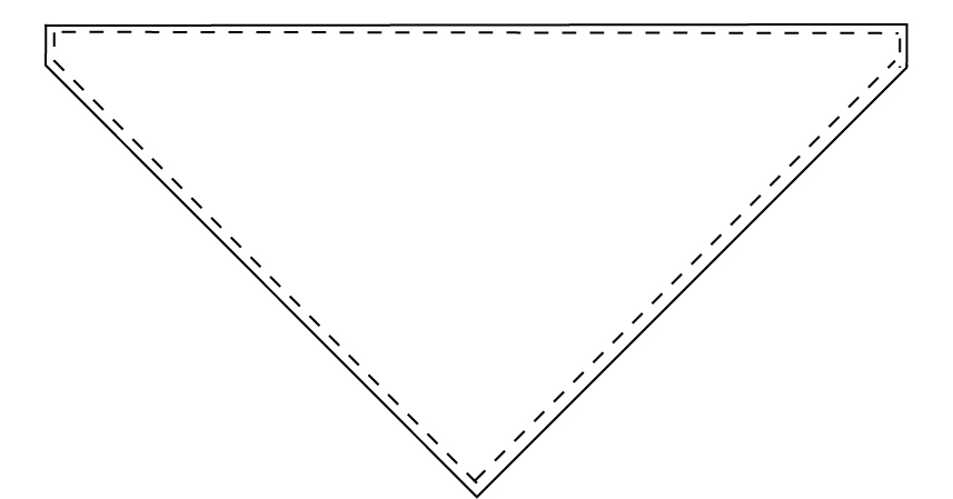 Triangle Baby Bib Tutorial pattern