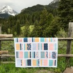 Peaches N' Cream Quilt in Azure Skies