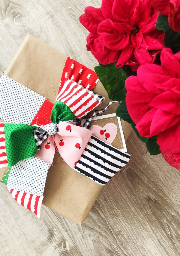 Christmas in July 2019 Week #1: Using Fabric Scraps to Make Gift Wrap Ribbons