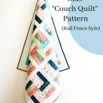 """Kids """"Couch Quilt"""" Rail Fence Style"""