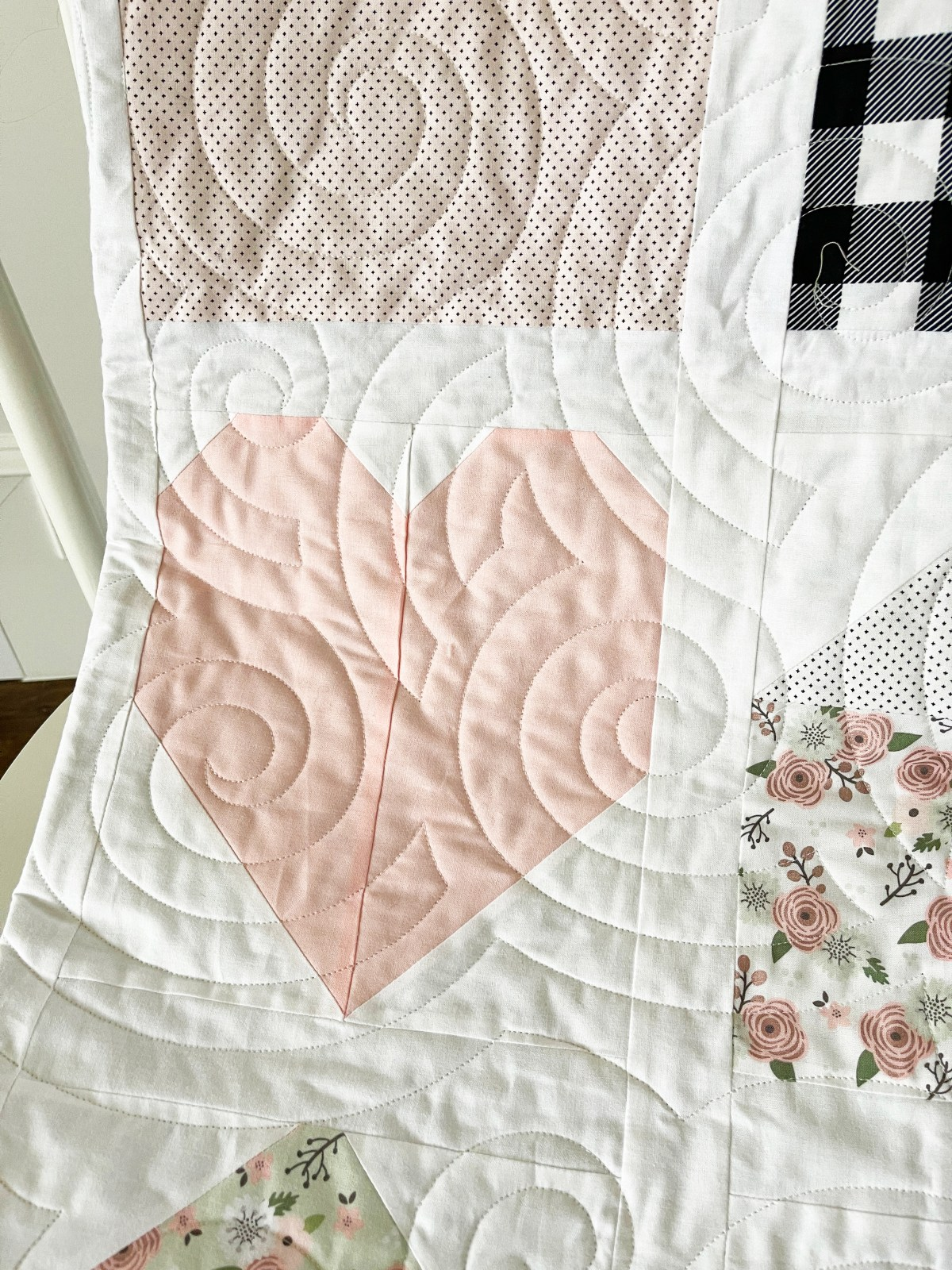 Home is Where the Heart Is Quilt Heart