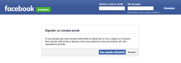 mon compte facebook a été piraté