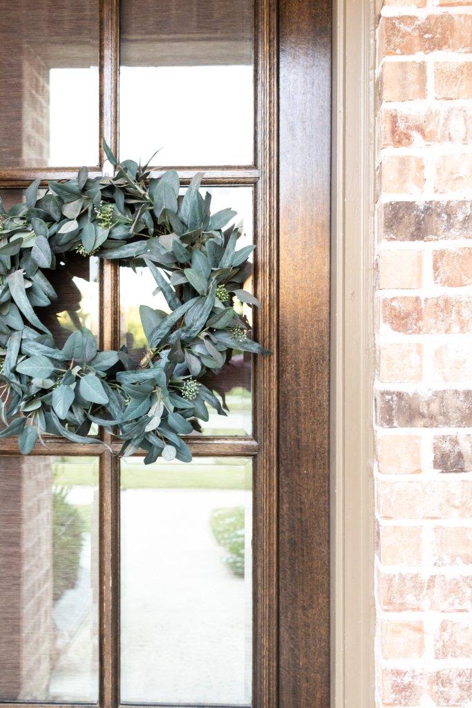 greenery wreath - refresh your front door