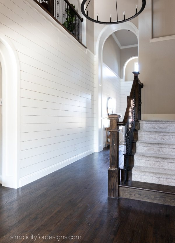 Faux Shiplap: Our Foyer Reveal