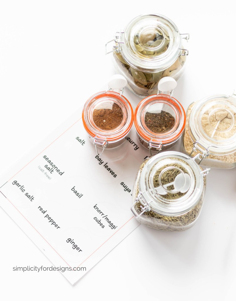 Diy Spice Jar Labels For The Kitchen Simplicity For Designs