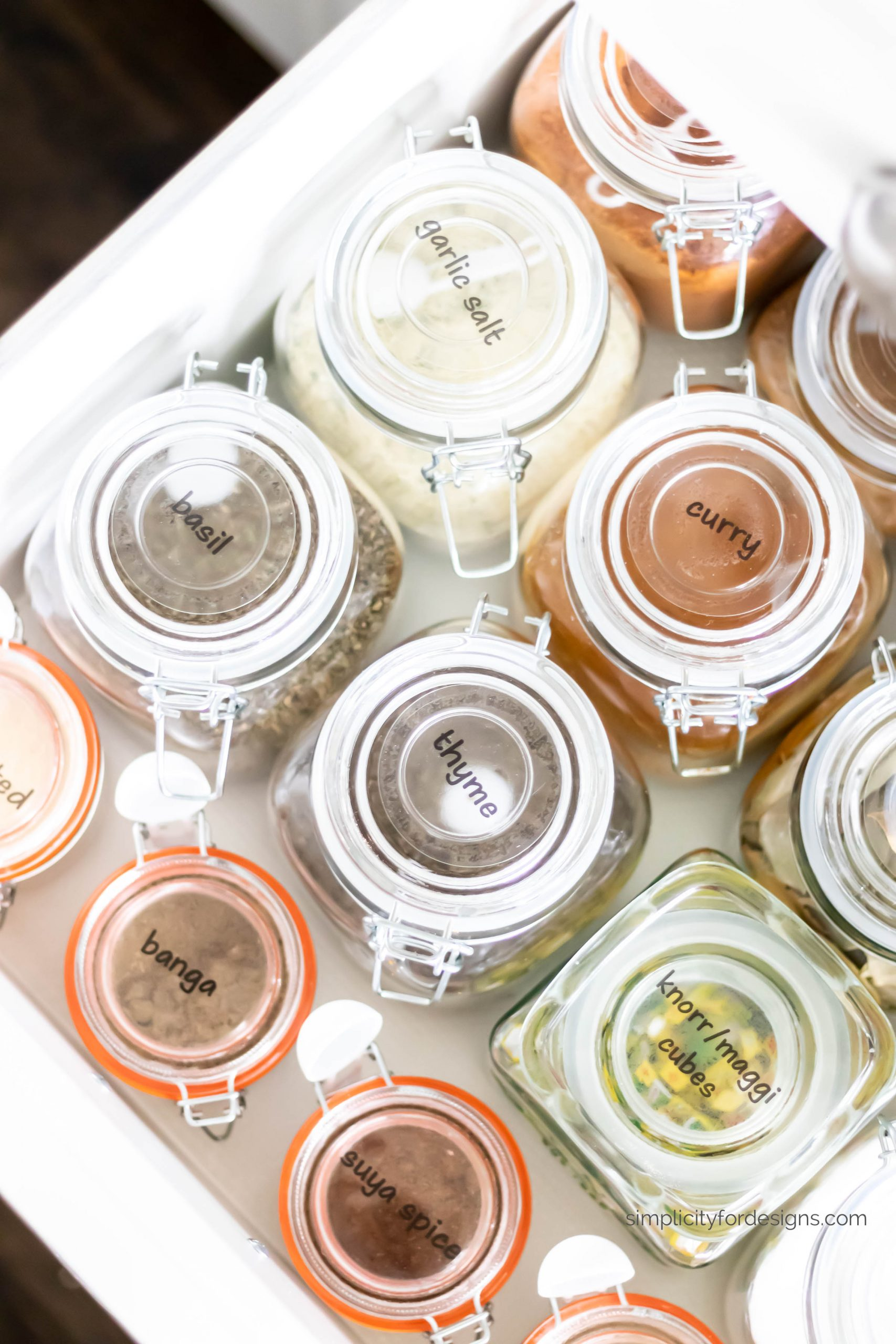 spice clear glass jars with lids