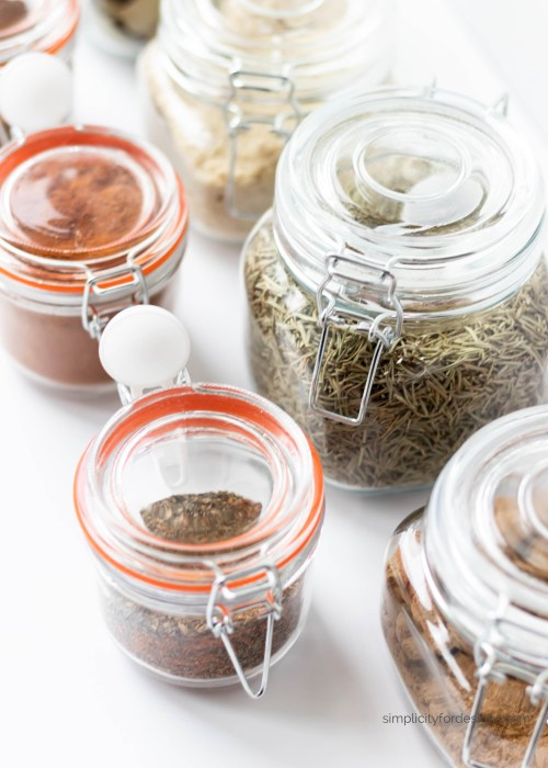 spice glass jar in various sizes
