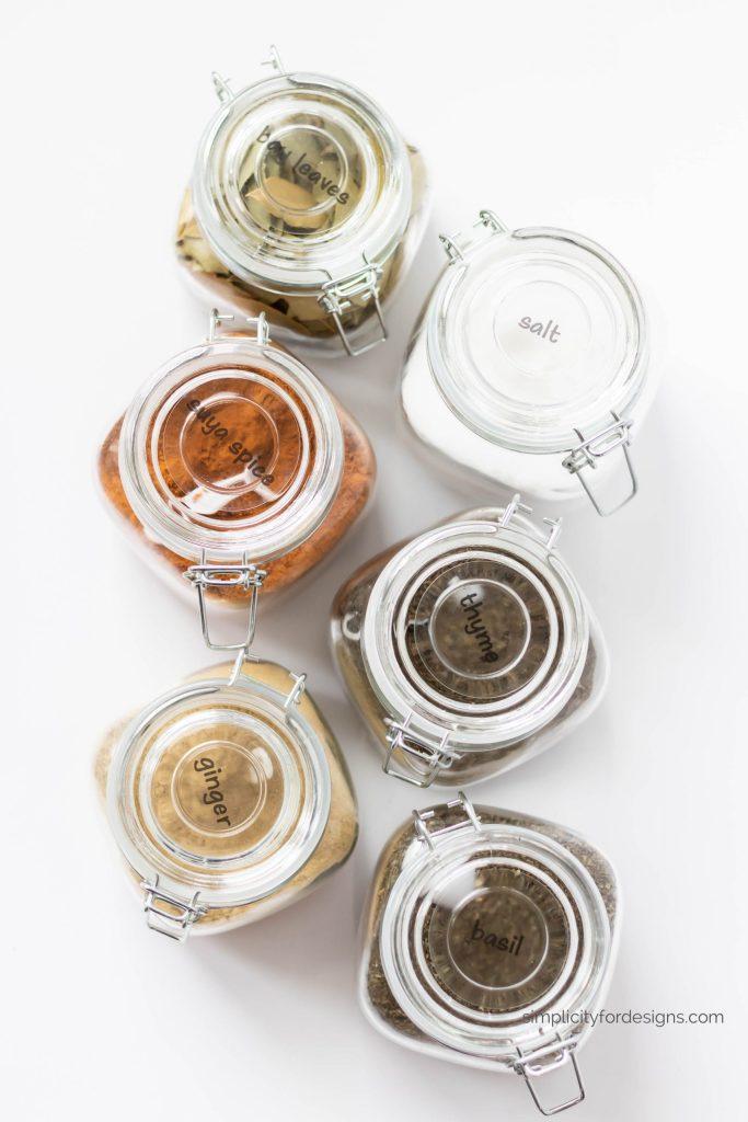 DIY spice organization for any kitchen