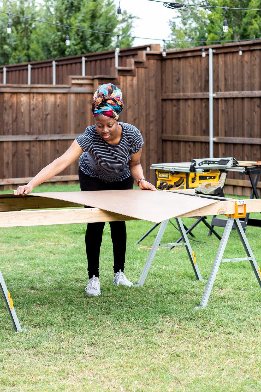 cut hardboard with circular saw or table saw