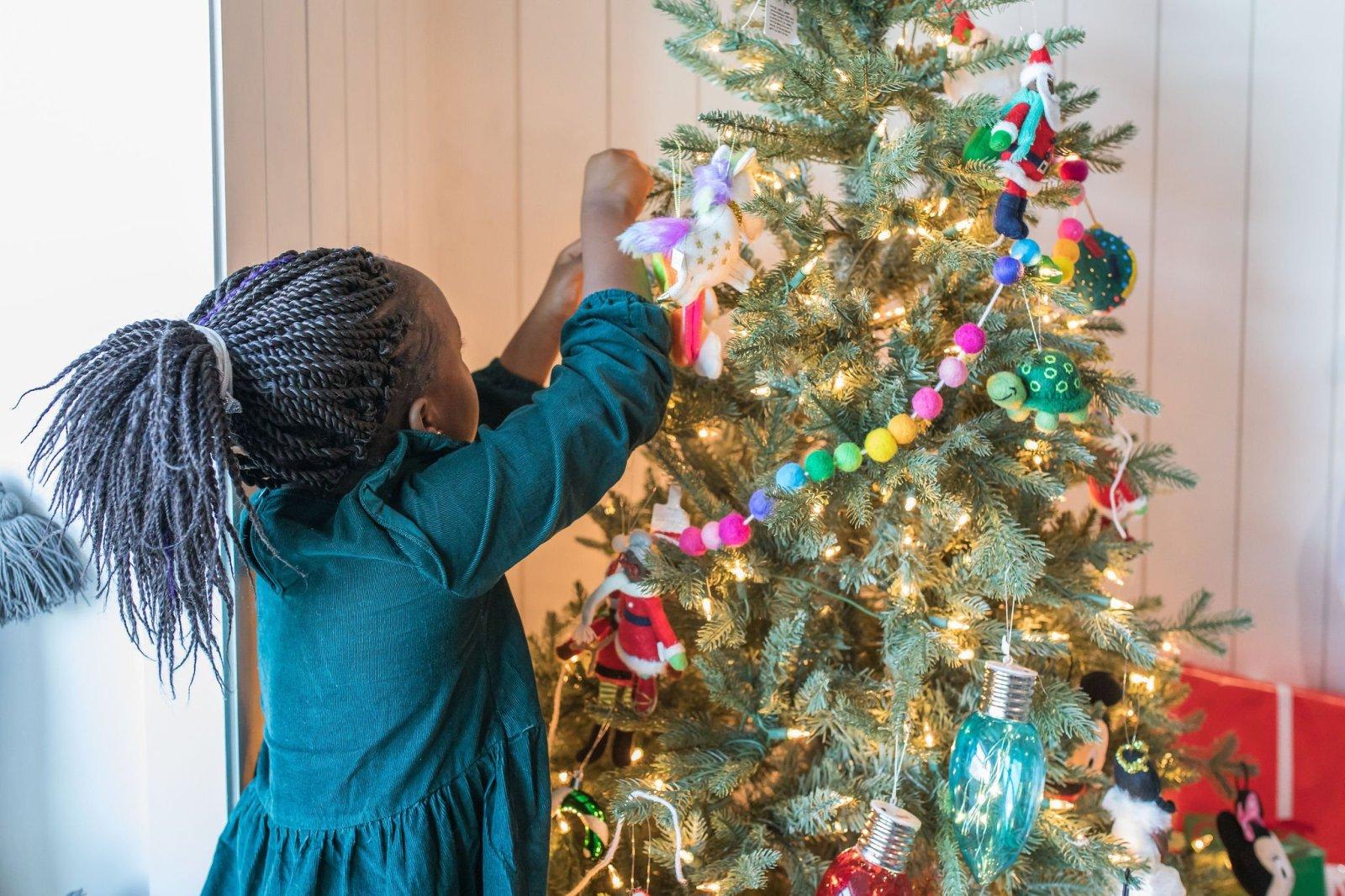 Kids Christmas Tree Decorating