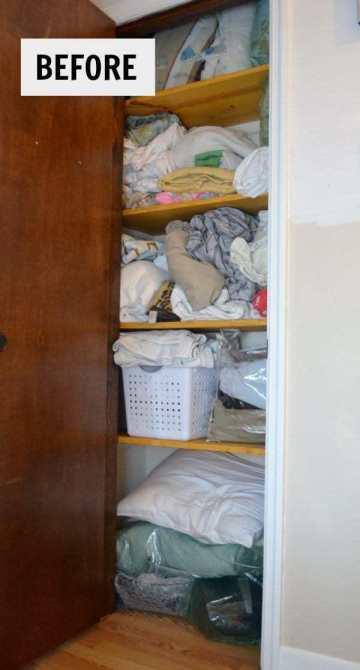 before linen closet picture.