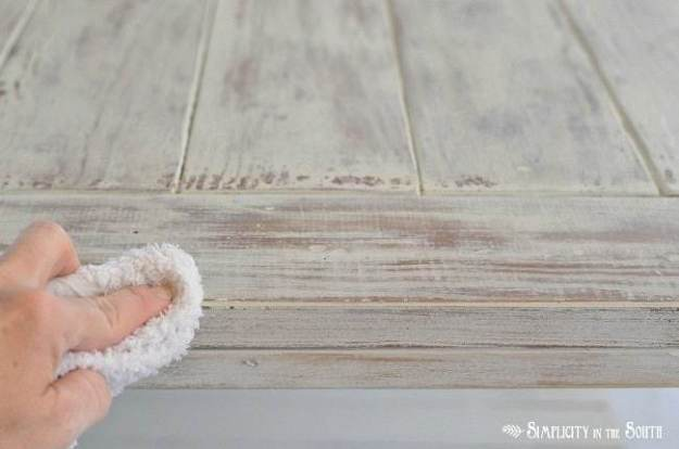 How to distress furniture by using a wet sanding technique