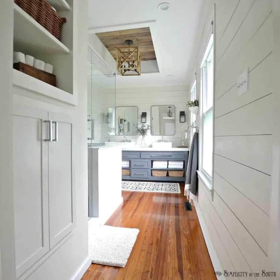 The Modern Farmhouse Master Bathroom Reveal on Modern Farmhouse Shower  id=18006