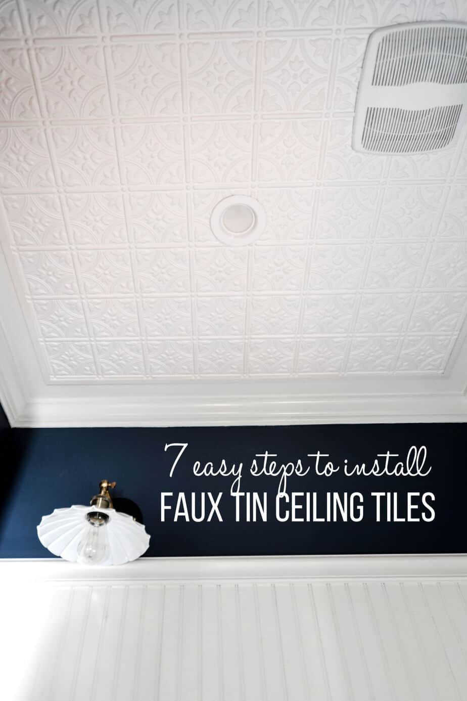 installing faux tin ceiling tiles