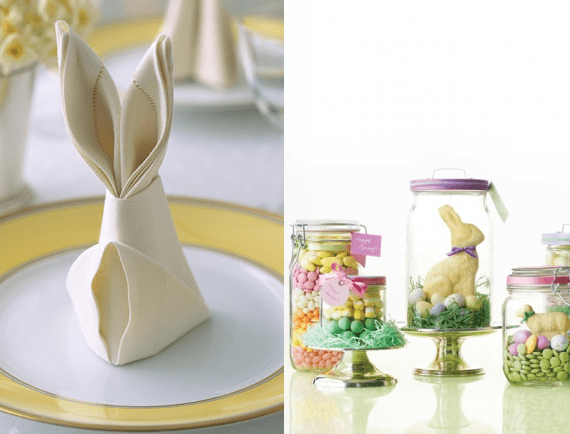 Country Easter Table From Chef Robin White Canapes45 On The Bunny Trail Board