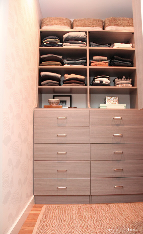 Small Walk In Closet Design Reveal Simplified Bee
