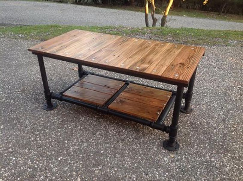 diy coffee table ideas built with pipe