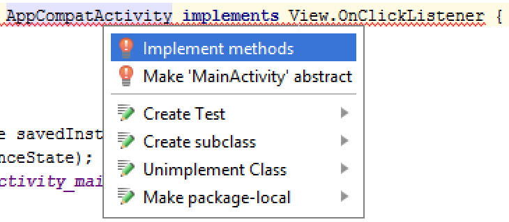 Android OnClickListener - Handling Button in Android Studio