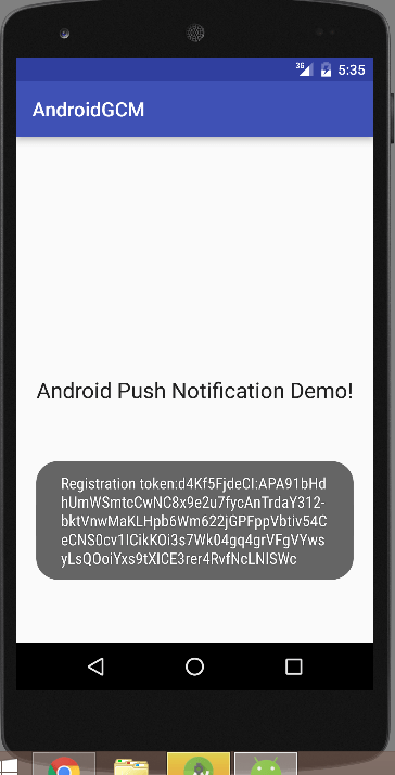 android push notification using gcm