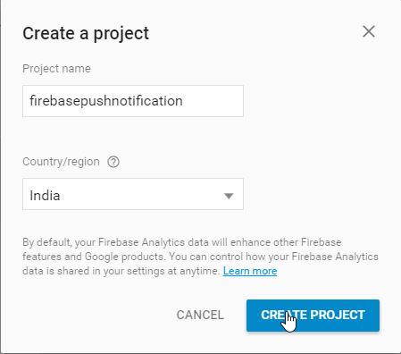 Android Firebase cloud messaging