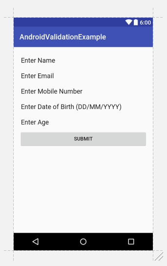 Android Form Validation