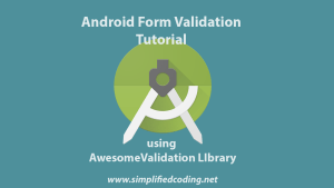 android form validation tutorial