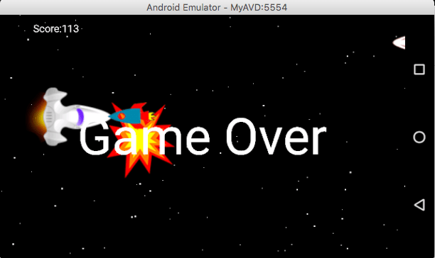 android game development tutorial game over
