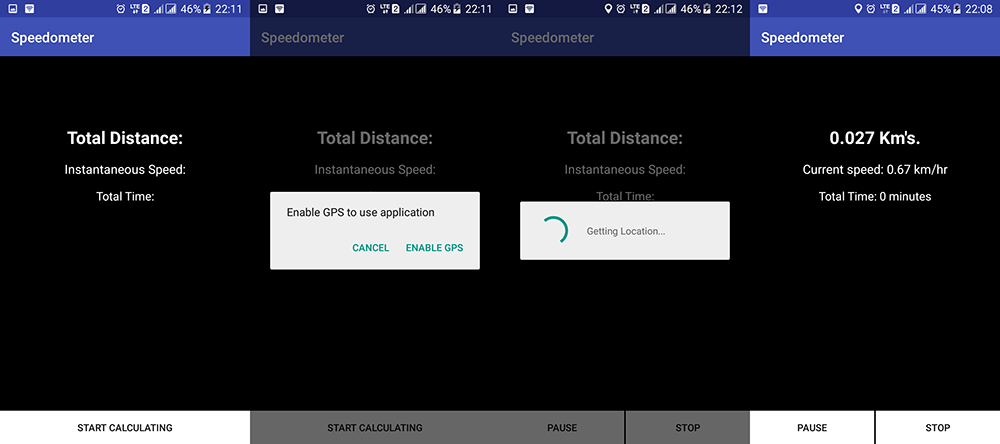 Android SpeedoMeter Tutorial using Google Location Service