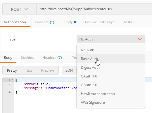 build rest api basic auth