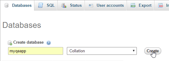 build rest api creating database