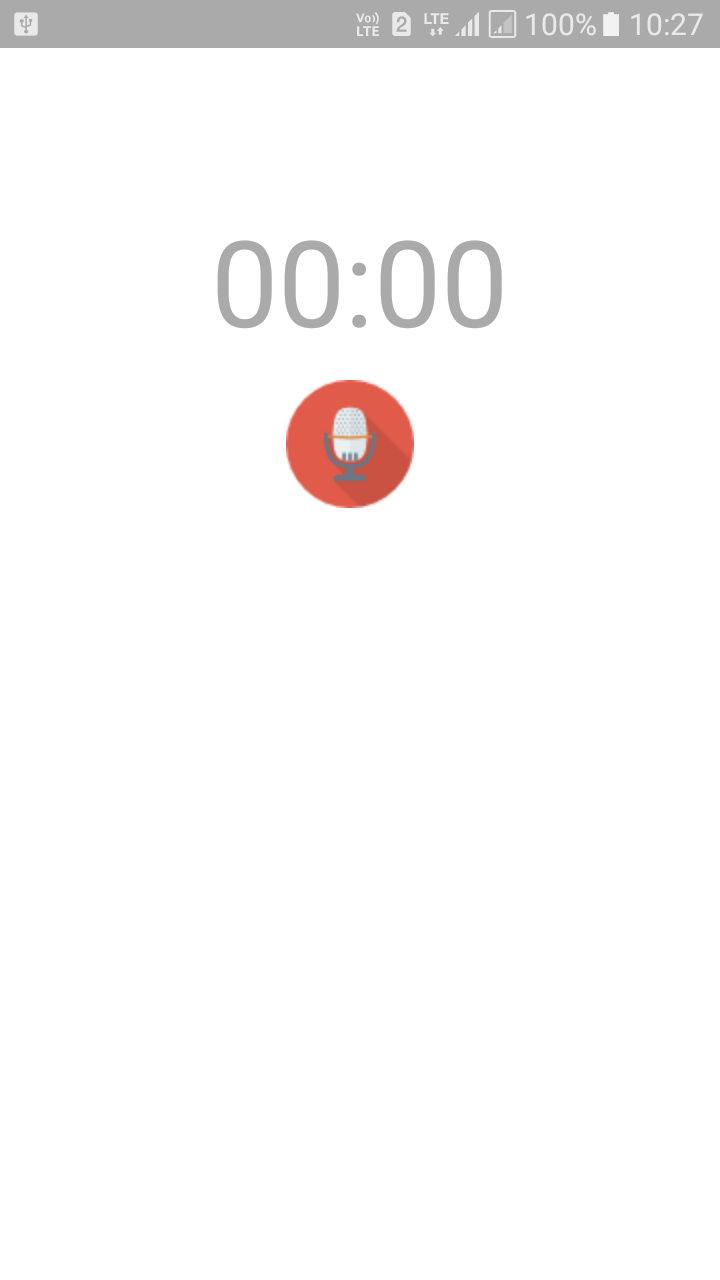 Voice recording in android example