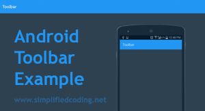 android toolbar example