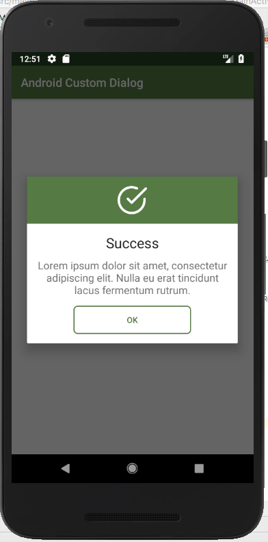 Android Custom Dialog Example - Making Custom AlertDialog