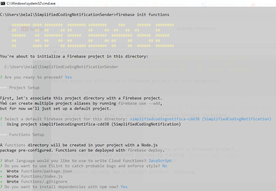 Initializing Firebase Functions