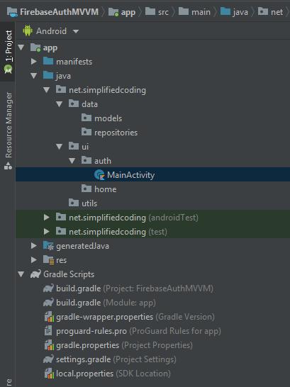 Firebase MVVM Example