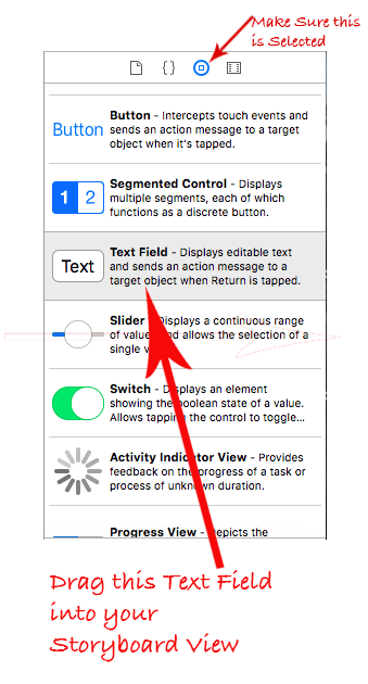 xcode text field tutorial