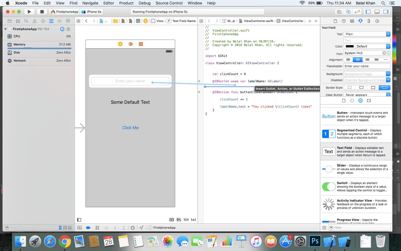 xcode textfield tutorial