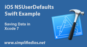 iOS NSUserDefaults Swift Example to Save Data using Xcode 7