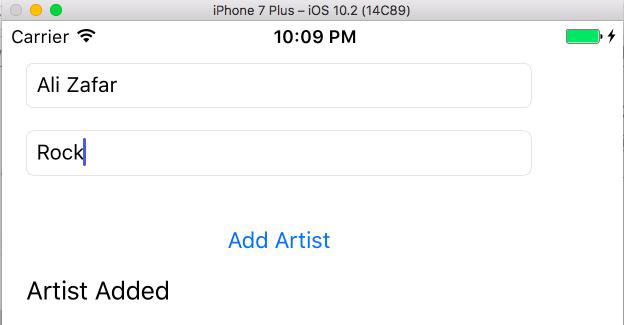 adding artist firebase database