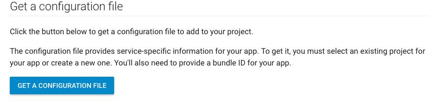 get configuration file