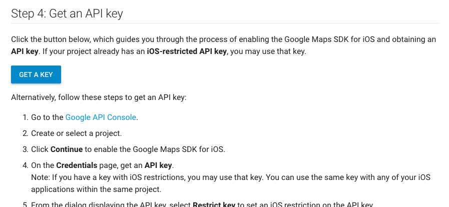 getting api key