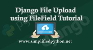 django file upload tutorial