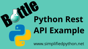Python Rest API Example using Bottle Framework