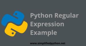 Python Regular Expression Example