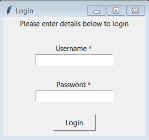 Python GUI Login - Graphical Registration And Login System In Python