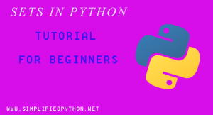 Sets In Python Tutorial For Beginners