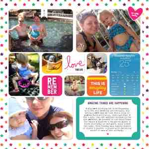 Digital project life layout Holly Connors